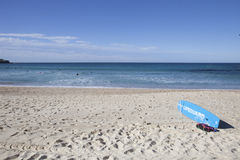 Σημάδι Lifeguard στην παραλία Bondi, Σίδνεϊ, Αυστραλία Στοκ Εικόνες