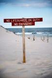 Σημάδι Lifeguard Στοκ φωτογραφίες με δικαίωμα ελεύθερης χρήσης