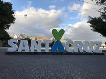 Σημάδι Santa Cruz Στοκ εικόνες με δικαίωμα ελεύθερης χρήσης