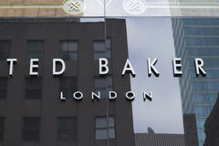 Σημάδι TED Baker Company Στοκ φωτογραφία με δικαίωμα ελεύθερης χρήσης