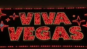 Σημάδι Vegas Viva στο Λας Βέγκας, ΗΠΑ, 2017 απόθεμα βίντεο