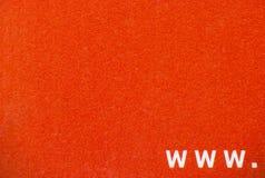 Σημάδι www στο κόκκινο υπόβαθρο. Στοκ φωτογραφίες με δικαίωμα ελεύθερης χρήσης