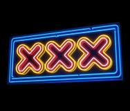 σημάδι xxx νέου Στοκ Φωτογραφία