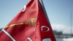 Σημαία Άγιος-Πετρούπολη σε αργή κίνηση απόθεμα βίντεο