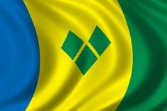 σημαία Άγιος vincent Στοκ φωτογραφίες με δικαίωμα ελεύθερης χρήσης