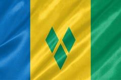 Σημαία Άγιου Βικέντιου και Γρεναδίνες διανυσματική απεικόνιση