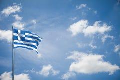 Σημαία έθνους της Ελλάδας Στοκ φωτογραφία με δικαίωμα ελεύθερης χρήσης