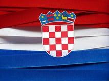 Σημαία ή έμβλημα της Κροατίας Στοκ Εικόνες