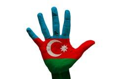 σημαία Αζερμπαϊτζάν φοινικών Στοκ φωτογραφίες με δικαίωμα ελεύθερης χρήσης
