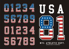 Σημαία Αμερική ΑΜΕΡΙΚΑΝΙΚΟΥ καθορισμένη αριθμού Στοκ Εικόνα