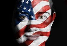 Σημαία αμερικανικού προσώπου Στοκ εικόνες με δικαίωμα ελεύθερης χρήσης