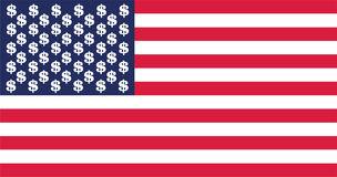 Σημαία αμερικανικών δολαρίων Στοκ εικόνα με δικαίωμα ελεύθερης χρήσης