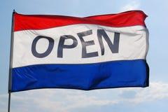 σημαία ανοικτή στοκ φωτογραφία με δικαίωμα ελεύθερης χρήσης