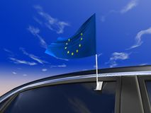 σημαία αυτοκινήτων Στοκ Φωτογραφίες