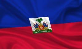 σημαία Αϊτή Στοκ Φωτογραφία