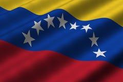 σημαία Βενεζουελανός Στοκ Φωτογραφία