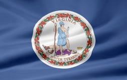 σημαία Βιρτζίνια Στοκ φωτογραφίες με δικαίωμα ελεύθερης χρήσης