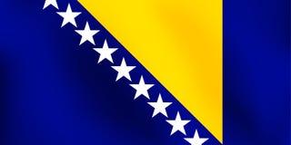 Σημαία Βοσνίας-Ερζεγοβίνης - διανυσματική απεικόνιση Στοκ φωτογραφία με δικαίωμα ελεύθερης χρήσης