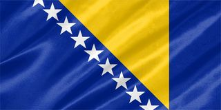 Σημαία Βοσνίας-Ερζεγοβίνης απεικόνιση αποθεμάτων