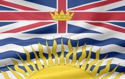 σημαία Βρετανικής Κολομβίας Στοκ φωτογραφίες με δικαίωμα ελεύθερης χρήσης