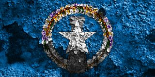 Σημαία Βόρειες Μαριάνες Νήσων grunge, Κοινοπολιτεία του ενωμένου στοκ φωτογραφία με δικαίωμα ελεύθερης χρήσης