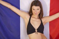 σημαία Γαλλία πέρα από τη γυ& Στοκ Φωτογραφίες