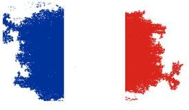 σημαία Γαλλία grunge απεικόνιση αποθεμάτων