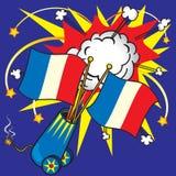 σημαία γαλλικά εορτασμού Στοκ εικόνες με δικαίωμα ελεύθερης χρήσης