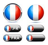 σημαία γαλλικά διανυσματική απεικόνιση