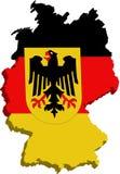 σημαία Γερμανία τυποποιη&m Στοκ εικόνες με δικαίωμα ελεύθερης χρήσης