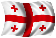 σημαία Γεωργιανός Στοκ Φωτογραφία