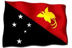 σημαία Γουινέα νέα Παπούα Στοκ Εικόνα