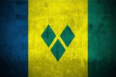 σημαία Γρεναδίνες grunge Άγιος vincent ελεύθερη απεικόνιση δικαιώματος