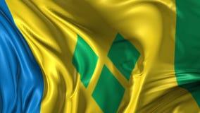 σημαία Γρεναδίνες Άγιος vinc απεικόνιση αποθεμάτων