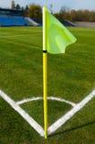 σημαία γωνιών κίτρινη Στοκ Φωτογραφίες