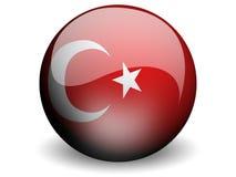σημαία γύρω από την Τουρκία Στοκ Εικόνες