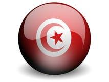σημαία γύρω από την Τυνησία Στοκ Φωτογραφίες