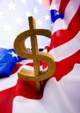 σημαία δολαρίων στοκ εικόνα