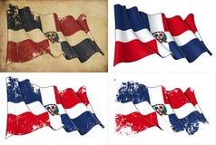 Σημαία Δομινικανής Δημοκρατίας Στοκ φωτογραφίες με δικαίωμα ελεύθερης χρήσης