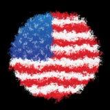 σημαία εθνικές ΗΠΑ Στοκ Φωτογραφίες