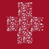 Σημαία εικονιδίων της Ελβετίας Στοκ φωτογραφία με δικαίωμα ελεύθερης χρήσης