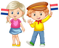 Σημαία εκμετάλλευσης αγοριών και κοριτσιών Netherland Στοκ φωτογραφία με δικαίωμα ελεύθερης χρήσης