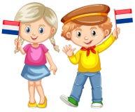 Σημαία εκμετάλλευσης αγοριών και κοριτσιών Netherland Στοκ φωτογραφίες με δικαίωμα ελεύθερης χρήσης