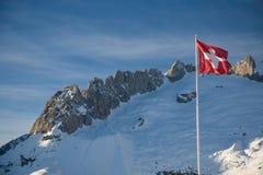 σημαία Ελβετός Στοκ φωτογραφία με δικαίωμα ελεύθερης χρήσης