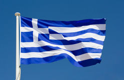 σημαία Ελλάδα εθνική Στοκ Εικόνες