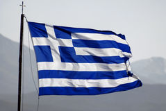 σημαία Ελλάδα Στοκ Φωτογραφίες