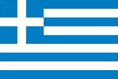 σημαία Ελλάδα Στοκ Εικόνα