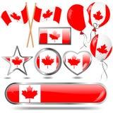 σημαία εμβλημάτων του Καν& Στοκ Εικόνες