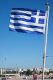 σημαία Ελλάδα εθνική Στοκ φωτογραφία με δικαίωμα ελεύθερης χρήσης