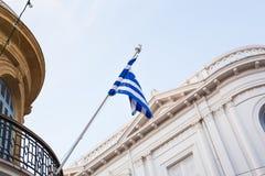 σημαία Ελλάδα εθνική Στοκ Φωτογραφίες
